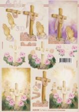 3D Bogen-Kreuz / betende Hände-LeSuh 4169475