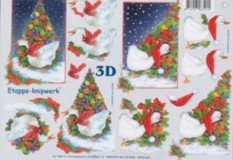 3D Bogen--Etappenbogen-Weihnachtsgans-4169541