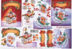 3D Bogen--Etappenbogen-Weihnachtsküken-4169549