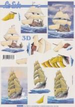 3D Etappen-Bogen-Segelschiff-4169690
