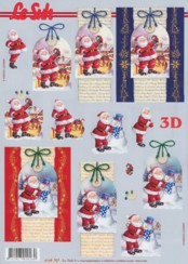 3D-Etappen-Bogen-Weihnachtsmann mit Hintergrund-4169707