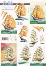 3D Etappen-Bogen-Drei-Master / Segelschiff-4169742