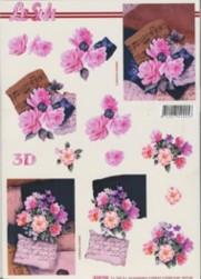 3D Etappen-Bogen-Rosen in pink-4169766