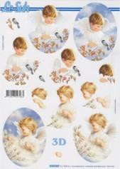 3D-Etappen-Bogen-Engel-Junge und Mädchen-4169847