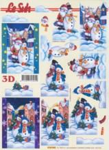 3D-Etappen-Bogen-Weihnachtsmann/Schneemänner-4169848