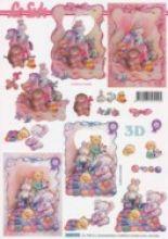 3D Bogen Baby/Geburt/Schlabberlatz-Stofftiere-4169910