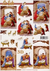 3D-Etappen-Bogen-Heilige Familie im Stall-4169941