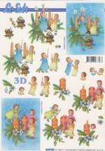 3D-Etappen-Bogen-Engel mit Kerzen-4169963
