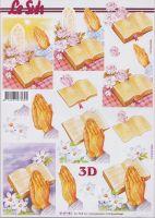 3D Etappen-Bogen-kirchliches-Motiv-Betende Hände-Bibel-4169983