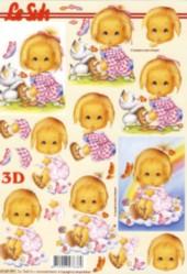 3D Etappen-Bogen-niedlicher niedliches Mädchen- 4169991