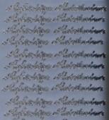 Zier-Sticker-Bogen-Aufrichtige Anteilnahme-silber-419as