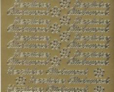 Zier-Sticker-Bogen-Herzlichen Glückwunsch-429g