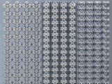 Zier-Sticker-Bogen-verschiedene Ränder-silber-436s