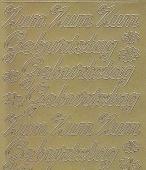 Zier-Sticker-Bogen-Zum Geburtstag-gold-4400g