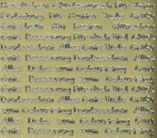 Zier-Sticker-Bogen-verschiedene Schriftzüge-gold-441g