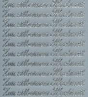 Zier-Sticker-Bogen-Zur silbernen Hochzeit-4434s