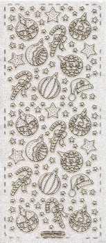 Micro-Glittersticker-Bogen-Sterne-Baumschmuck-transparent-gold-4465gtrg