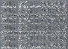 Zier-Sticker-Bogen-0448s-Zum Schulanfang-silber