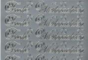 Zier-Sticker-Bogen-Frohe Weihnachten-silber- W 451s