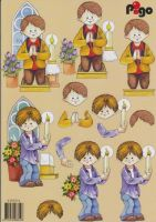 3D Etappen-Bogen-Pigo- 4525014-Kommunion/Junge