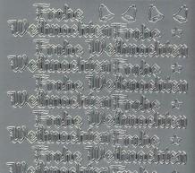 Zier-Sticker-Bogen-Frohe Weihnachten-silber-W455s
