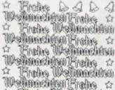 Zier-Sticker-Bogen-Frohe Weihnachten-transparent/silber-W455trs