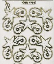 Stick-Zier-Sticker-Bogen-Stern-Ecken -4701 trg