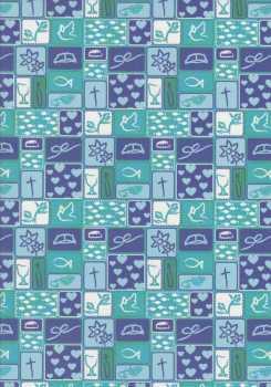 Marpa Jansen-Transparentpapier Nobless-8896-30-Patchwork-Christliche Motive-blau