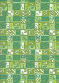 Marpa Jansen-Transparentpapier Nobless-8896-50-Patchwork-Christliche Motive-grün