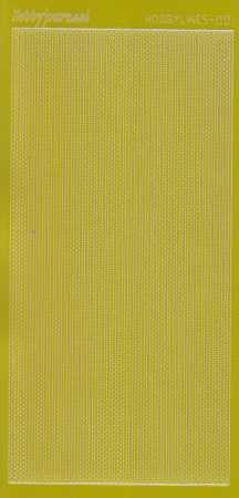 Zier-Sticker-Bogen-Spiegelfolie-dünne Perlenränder-gelb-5000 spfge