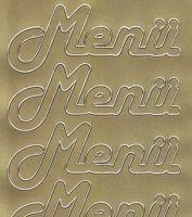 Zier-Sticker-Bogen-Menü-gold-5029g