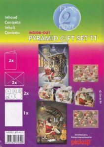 3D Pyramiden-Stanzbogen-2er komplett Set-mit Geschenkboxen-Weihnachten/Nikolaus-6511