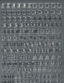 Zier-Sticker-Bogen-Alphabet-Groß.-& Kleinbuchstaben /Zahlen-5129s
