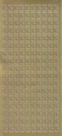 Zier-Sticker-Bogen-Buchstaben- nur C -gold-5510g