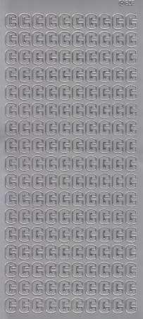 Zier-Sticker-Bogen-Buchstaben- nur C -silber-5511s
