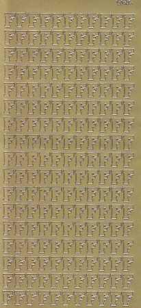 Zier-Sticker-Bogen-Buchstaben- nur F -gold-5525g