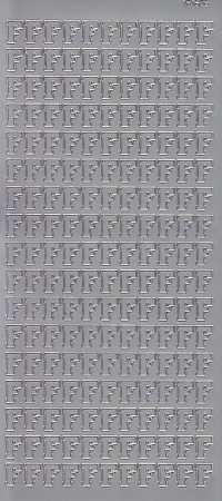 Zier-Sticker-Bogen-Buchstaben- nur F -silber-5526s