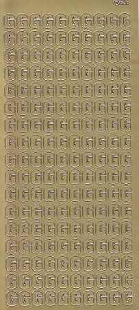 Zier-Sticker-Bogen-Buchstaben- nur G -gold-5530g