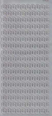Zier-Sticker-Bogen-Buchstaben- nur G -silber-5531s