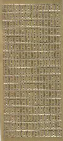 Zier-Sticker-Bogen-Buchstaben- nur H -gold-5535g