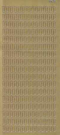 Zier-Sticker-Bogen-Buchstaben- nur I -gold-5540g