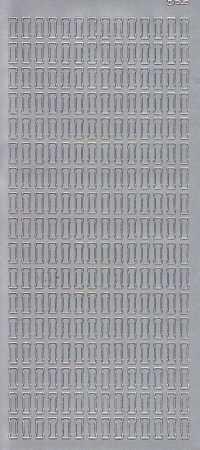 Zier-Sticker-Bogen-Buchstaben- nur I -silber-5541s