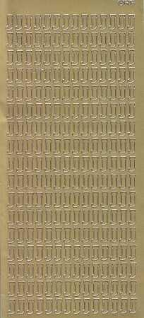 Zier-Sticker-Bogen-Buchstaben- nur J -gold-5545g