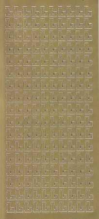 Zier-Sticker-Bogen-Buchstaben- nur L -gold-5555g