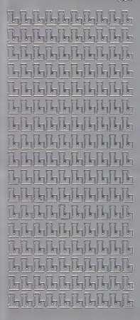 Zier-Sticker-Bogen-Buchstaben- nur L -silber-5556s