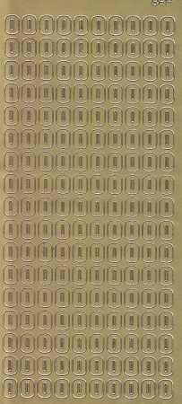 Zier-Sticker-Bogen-Buchstaben- nur O -gold-5570g
