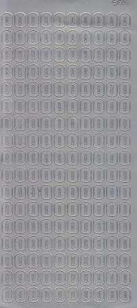 Zier-Sticker-Bogen-Buchstaben- nur O -silber-5571s