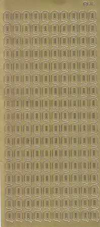 Zier-Sticker-Bogen-Buchstaben- nur Q -gold-5580g