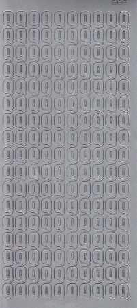 Zier-Sticker-Bogen-5581s-Buchstaben- nur Q -silber