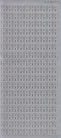 Zier-Sticker-Bogen-Buchstaben- nur R -silber-5586s